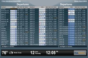 Abflugtafel - Einreisebestimmungen USA