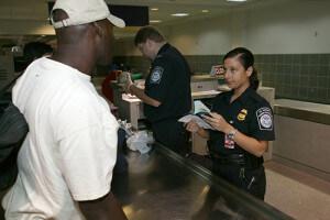 Gepäckuntersuchung - Visa Waiver Program