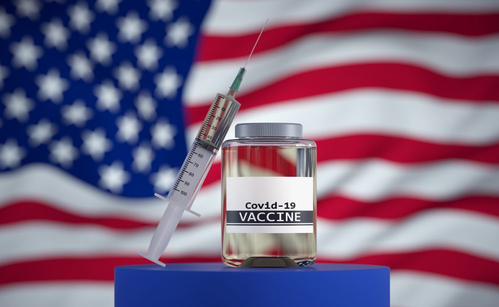 Vaccine,For,Covid-19,Created,By,Usa.,3d,Render.